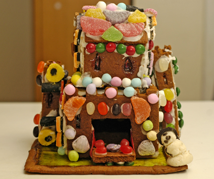 Our gingerbread castle