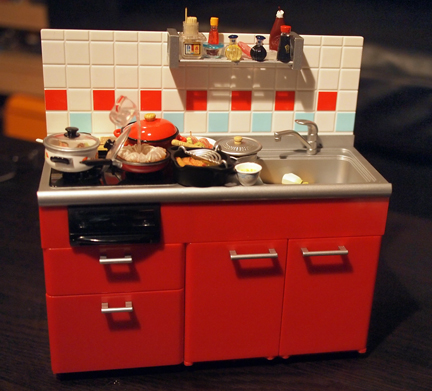 Ebi fry and re ment exquisite fake japanese miniature for Fake kitchen set