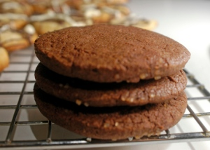 Chocolate Butter Cookies with sanding sugar