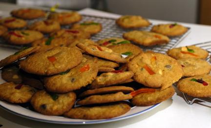 pile monster cookies