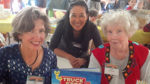 With Anne Rockwell, author of Truck Stop, and her daughter and illustrator, Lizzy Rockwell,