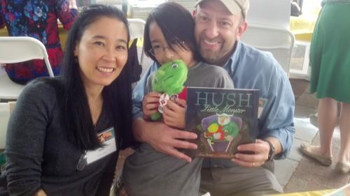 Denis and I signed Hush Little Monster together
