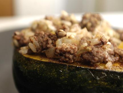 stuffed acorn squash side