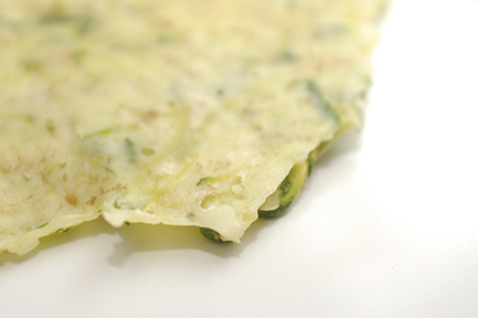 zucchini crepe up close