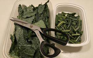 kale with scissors
